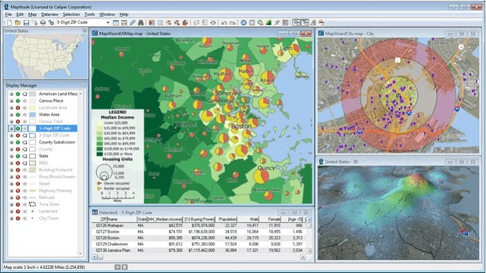 best Geographic Information System software for beginners Maptitude