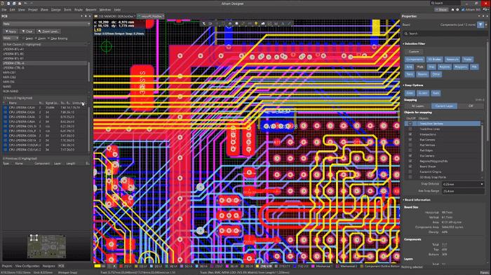 Compare Altium Designer Vs diptrace PCB Design Software