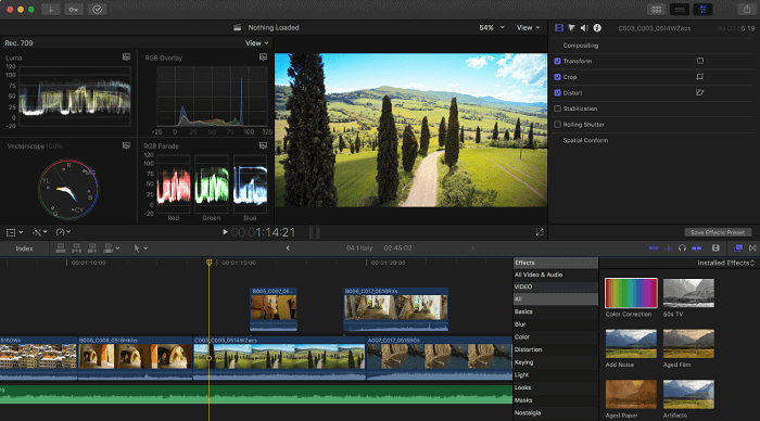 Final Cut Pro best video editing software for mac