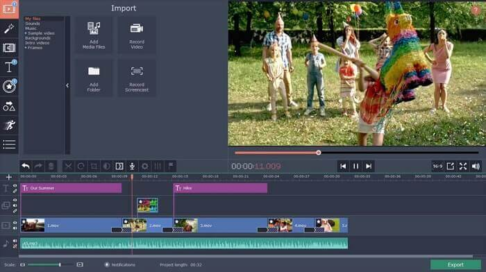 Movavi video editing software for pc