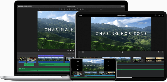iMovie free video editing software for mac