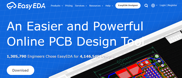 EasyEDA free PCB design software