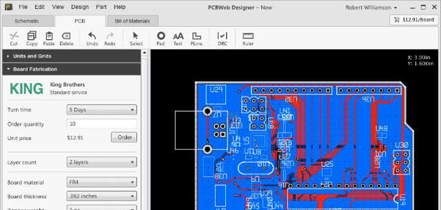 PCB Web PCB layout software and tools