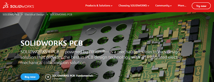 SolidWorks PCB PCB CAD software